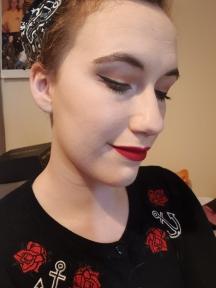 Full face of make up