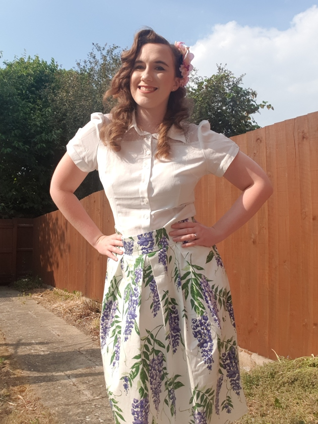 Joanie Clothing - Mim Floral Wisteria Skirt
