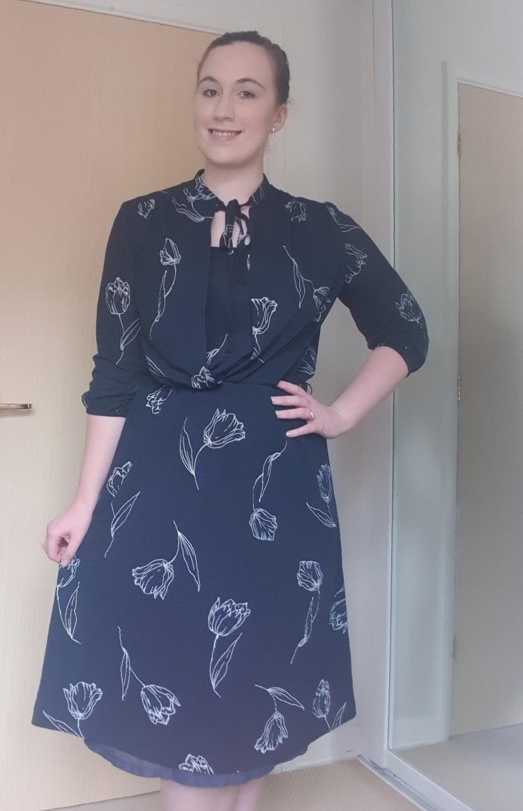 Blue floral, vintage dress