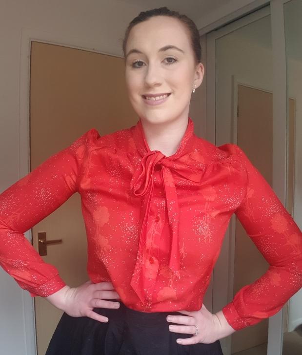 Red, vintage blouse