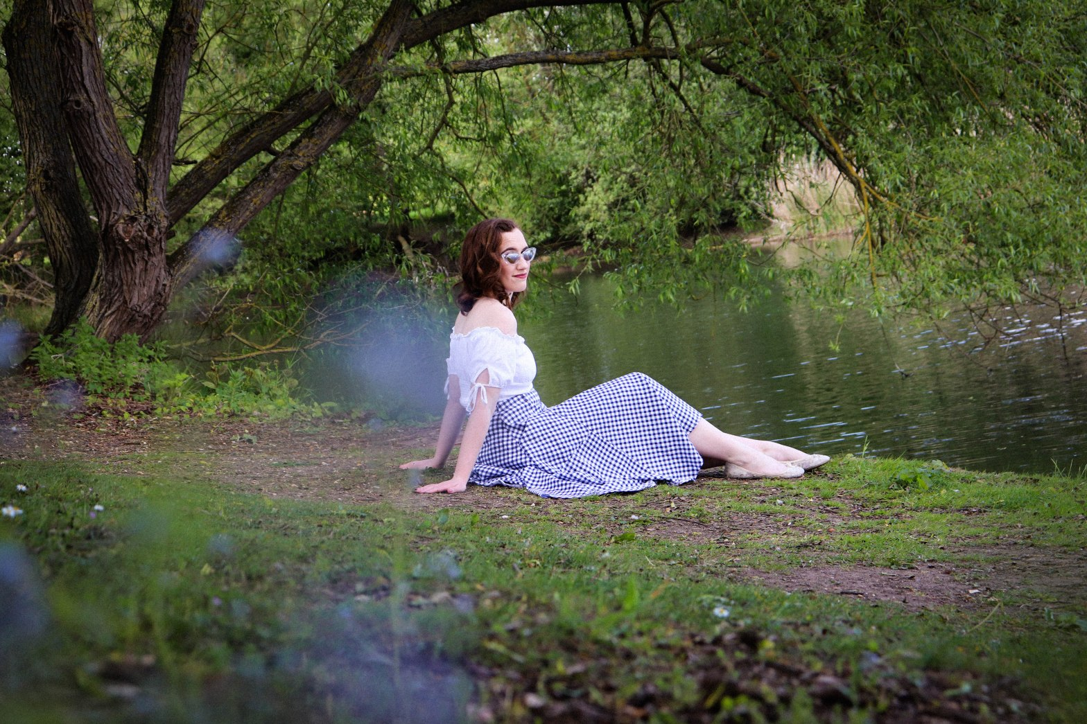 Vintage Summer Lookbook - Gingham by the lake