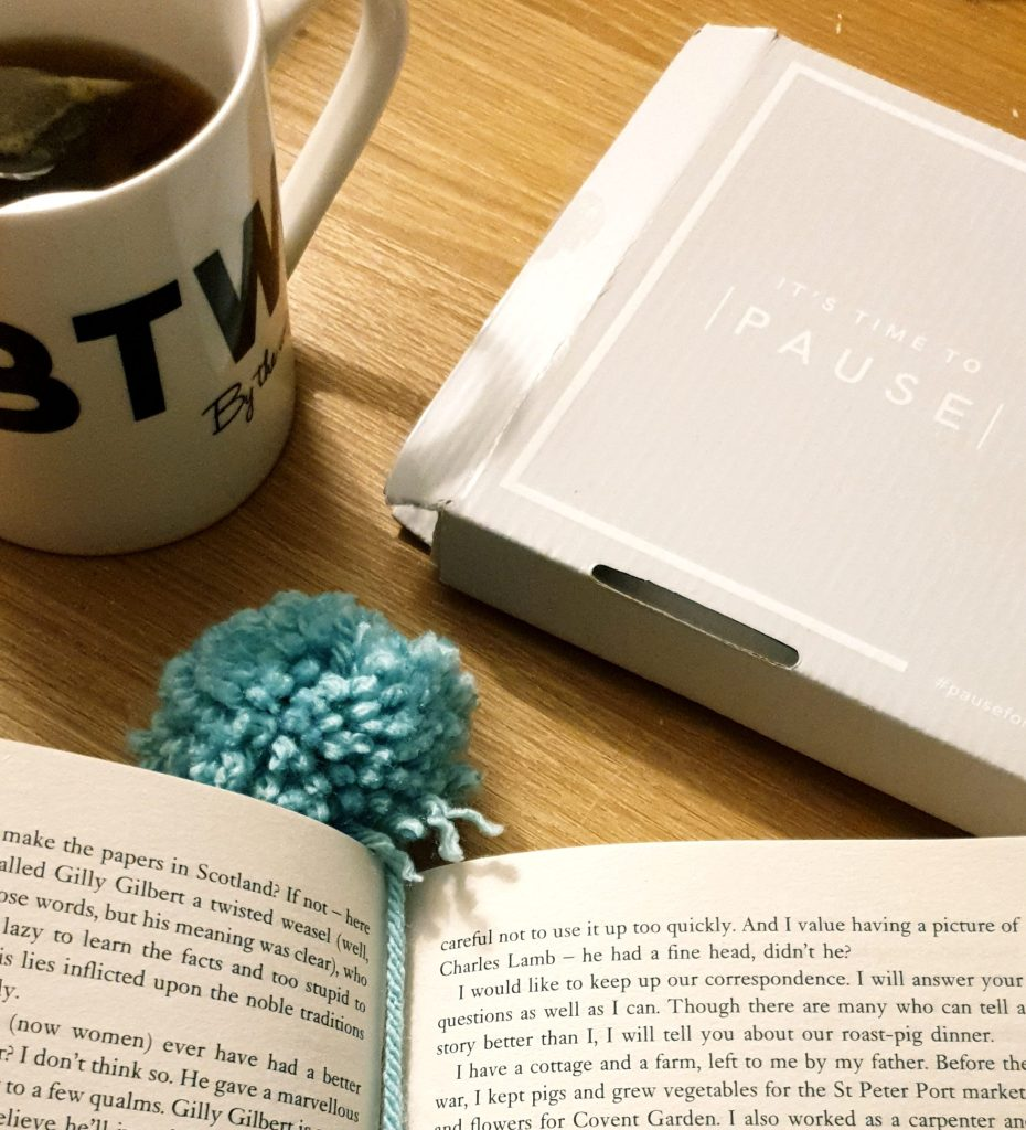 The Pause Box, a book & a cuppa
